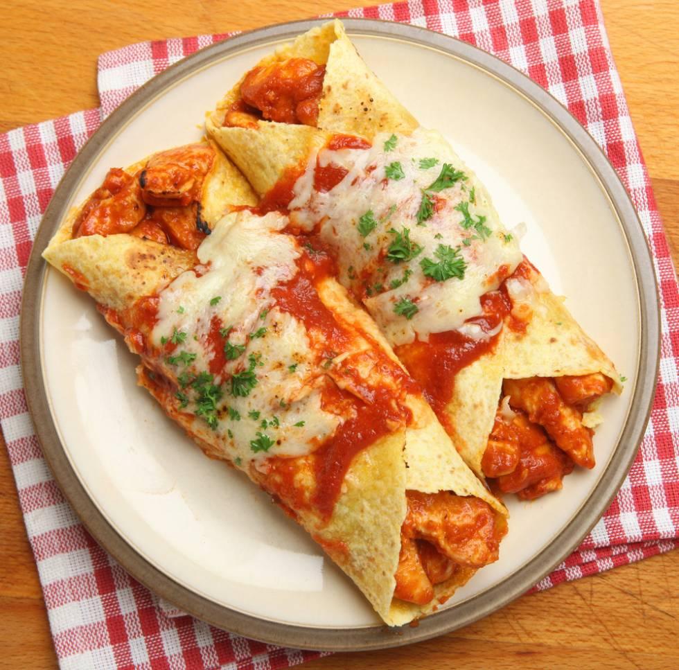 Enchiladas met Kip en Kaas.