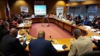 Les Parlementaires ayant pris part au « Dialogue parlementaire sur la sécurité alimentaire et nutritionnelle en Afrique de l'Est, à Kigali, 21-22 novembre 2017.