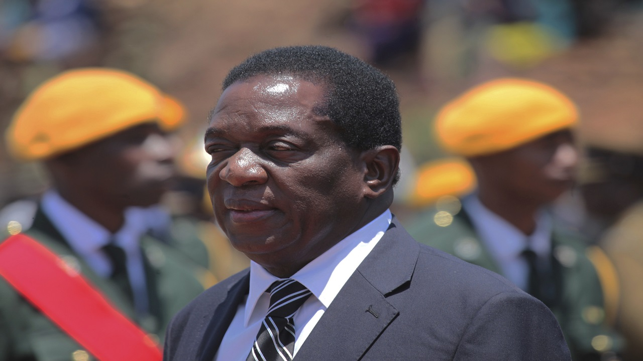 Zimbabwe's fired vice president Emmerson Mnangagwa is seen at the Heroes Acre in Harare in this Wednesday, Nov., 1, 2017 photo.