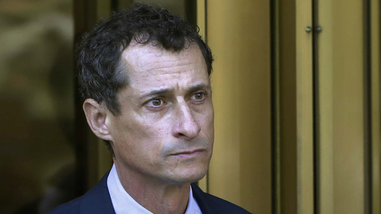 FILE - Former Congressman Anthony Weiner leaves federal court following his sentencing in New York.