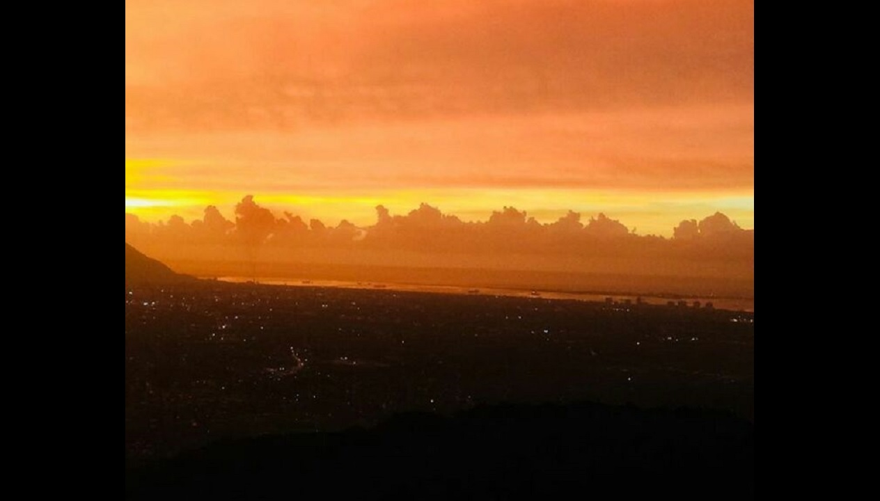 Jamaicans awakened to an orange sky on Friday. This photo was captured by Debbie Williams in Kingston.