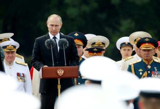 Le président Vladimir Poutine, le 30 juillet 2017 à Saint-Pétersbourg