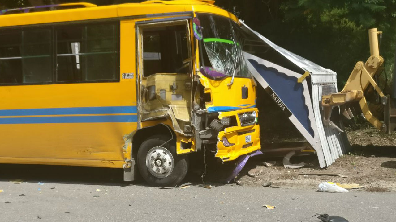 Photo from today's accident in Porters, St. James. (Social media image)