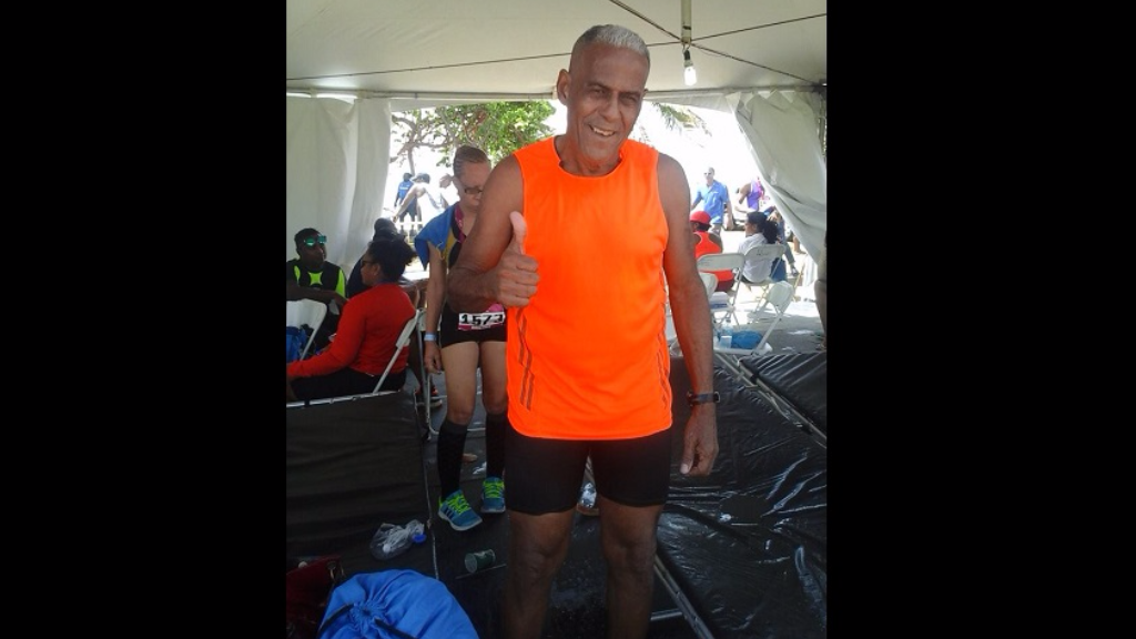79-year-old runner, Derick McIntyre