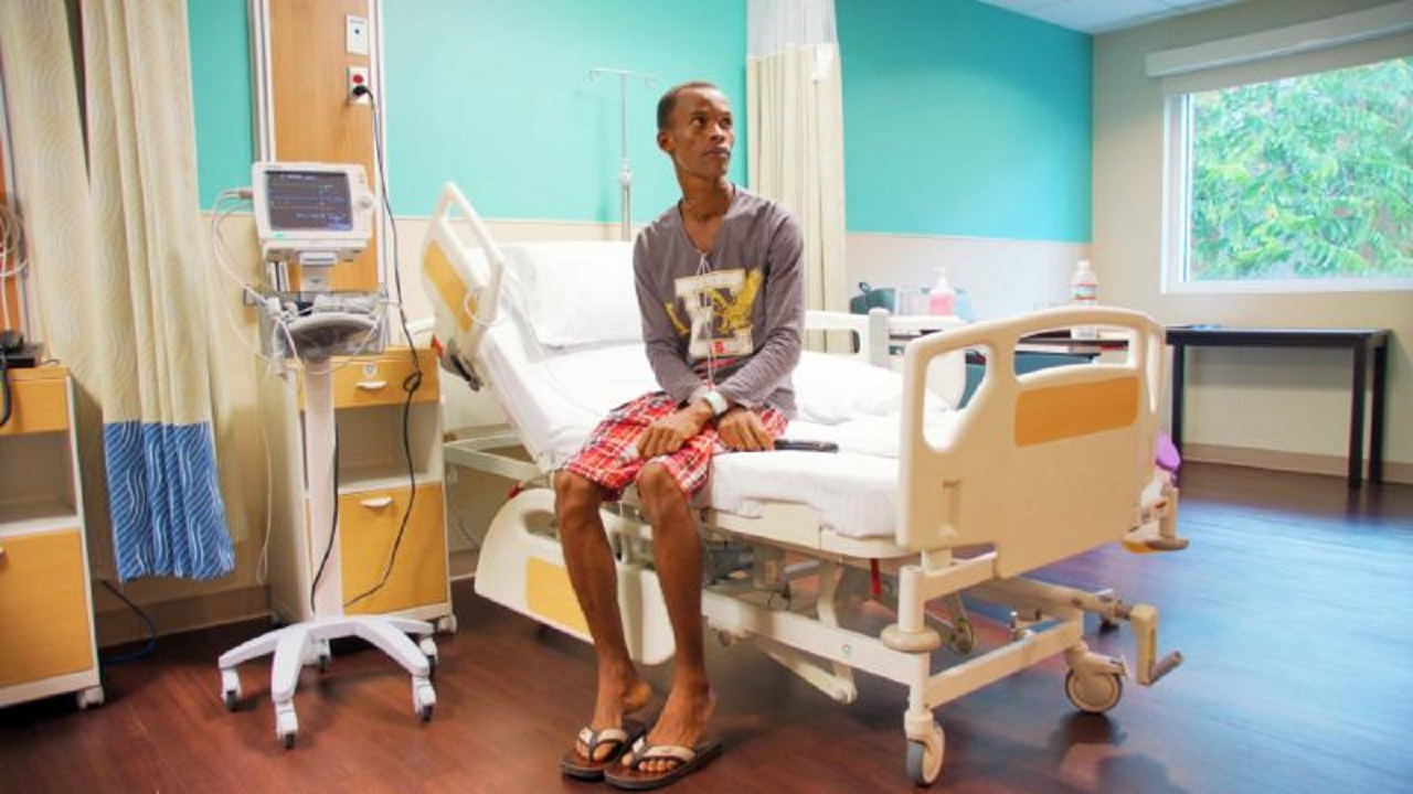 Jamaican farmer, 31-year-old Clester Christie, whose life was saved through a number of specialised surgical procedures after he recently fell critically ill in the Cayman Islands. (Health City Cayman Islands photos)
