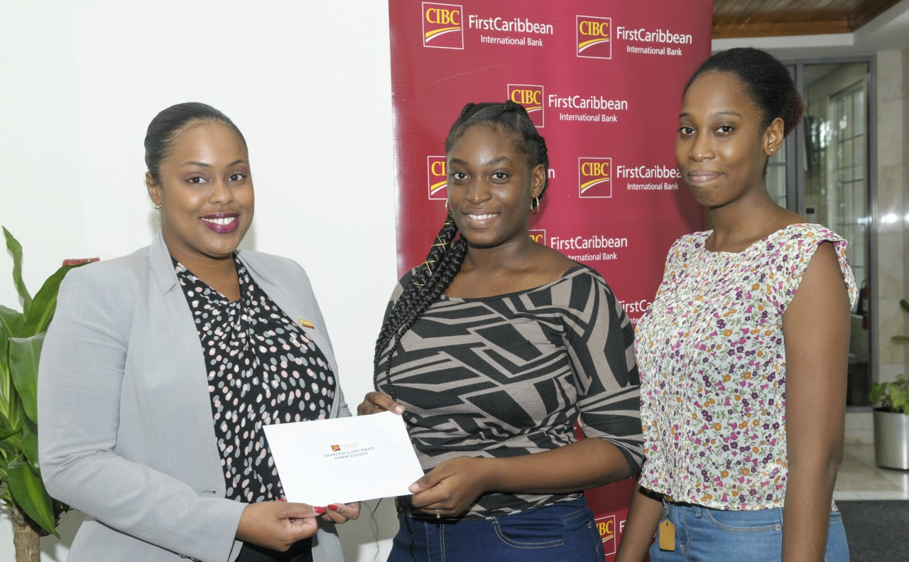 In our photo: Krystle Maynard, Treasurer Barbados Operating Company presents the cheque to