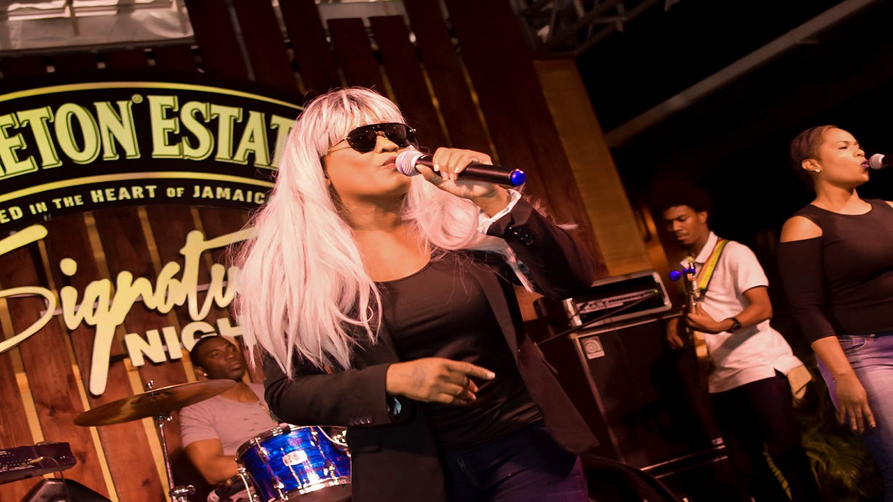 Tanya Stephens performs at Appleton Estate Signature Nights.