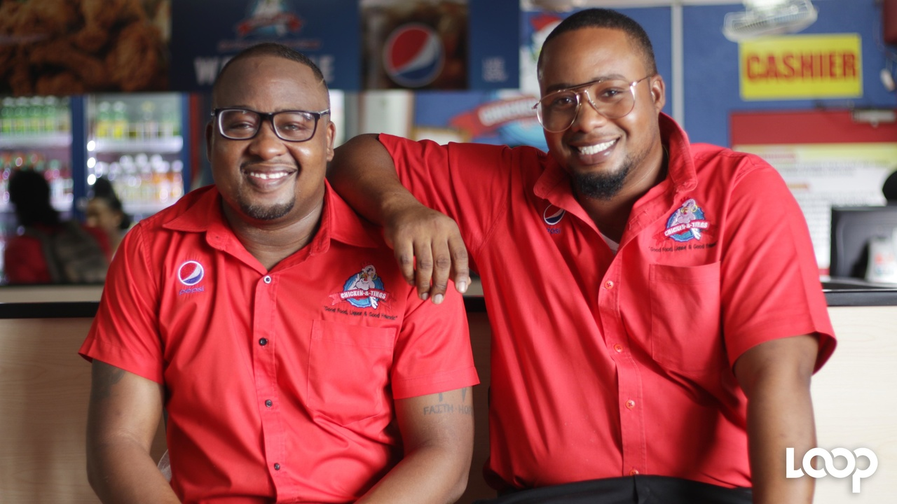 Brothers Emelio Madden and Larenzo Douse, owners of Chicken & Tings