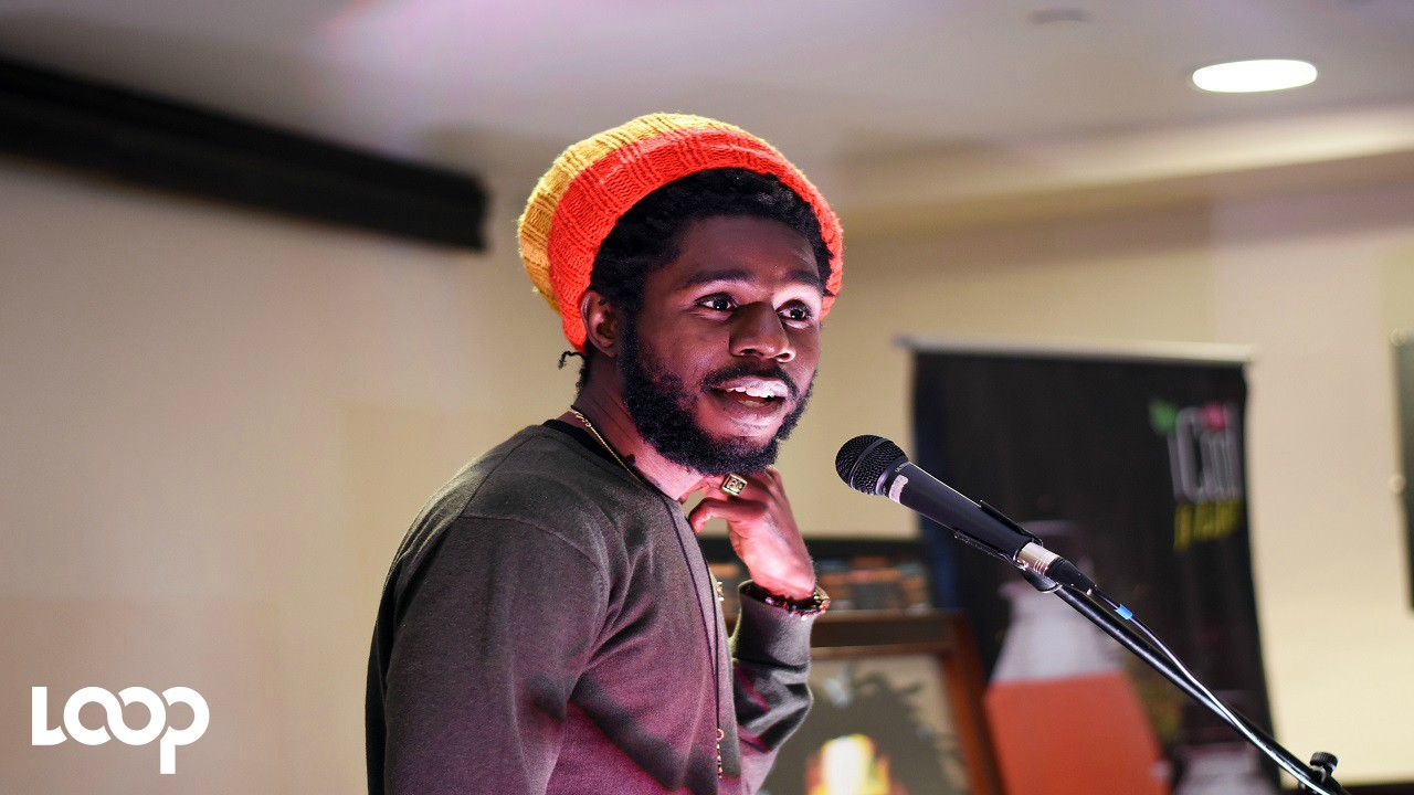 Jamaican reggae star Chronixx speaking at the launch of the Caribbean Chronology Tour on Wednesday at the Jamaica Pegasus hotel. (PHOTOS: Marlon Reid)