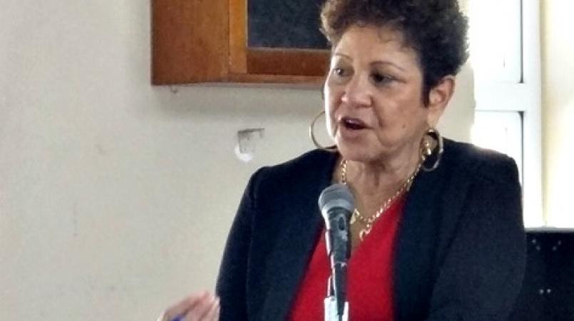 FILE - President of the Barbados Secondary Teachers' Union (BSTU), Mary Redman.