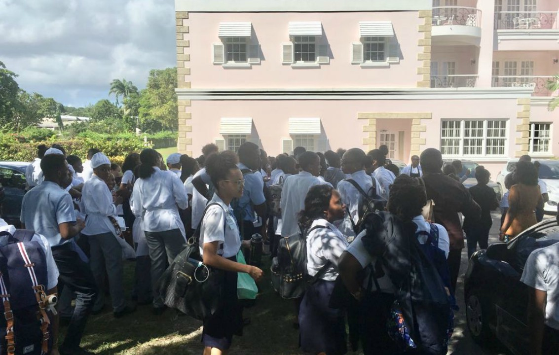 Students of the Hospitality Institute, Barbados Community College (BCC) found themselves out of the classroom last week following an incident which took place between the Director of the Institute and the Acting President of the Student Guild.