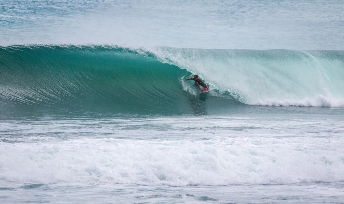 A shot of Zander Venezia's last session in Barbados. (PHOTO courtesy WSL/Asher Nolan)