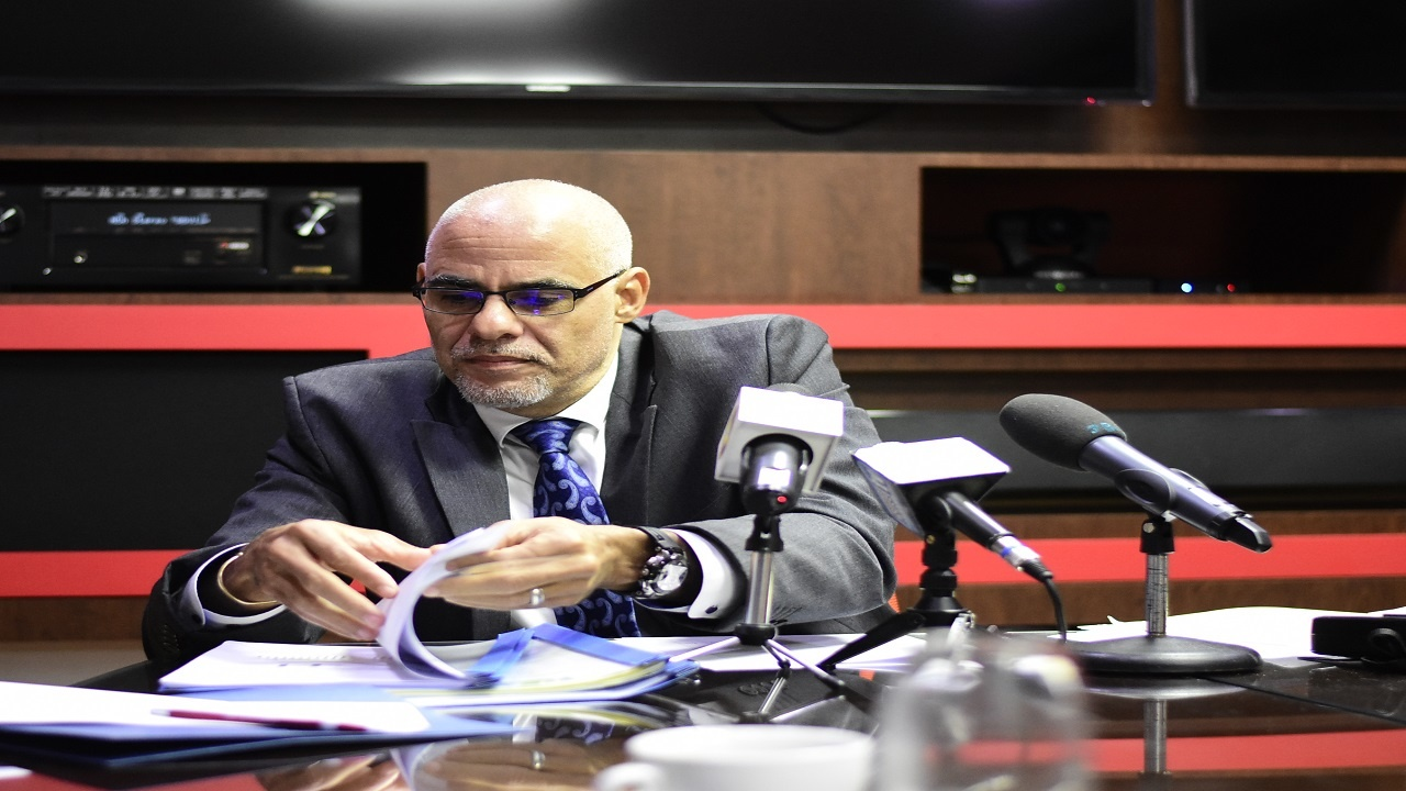 EPOC Co-chairman, Keith Duncan, updating on the three-year International Monetary Fund (IMF) Standby Agreement on Friday in Kingston. (Photo: Marlon Reid)