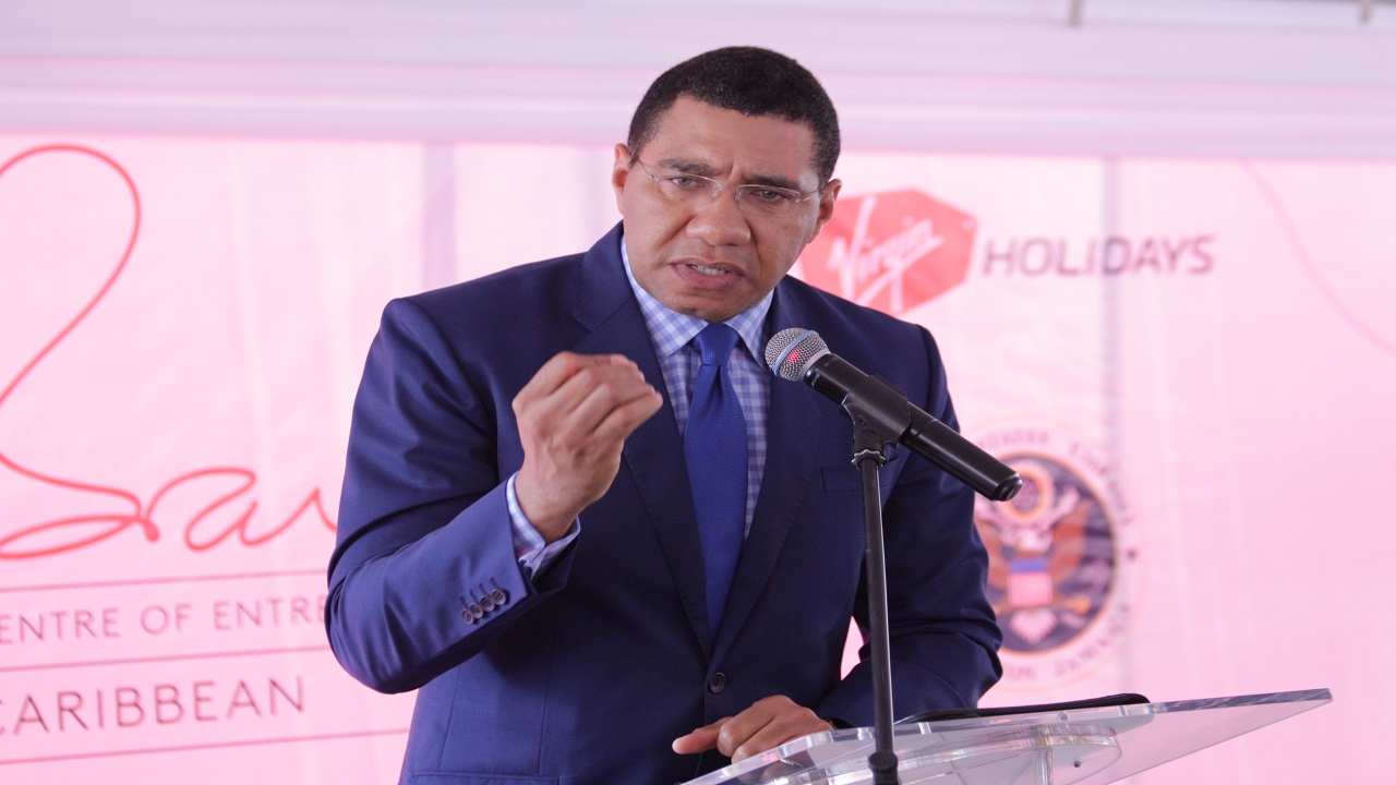 Holness was speaking on Tuesday at the official re-launch of the Richard Branson Centre of Entrepreneurship at Sovereign Commercial Centre in Barbican.
