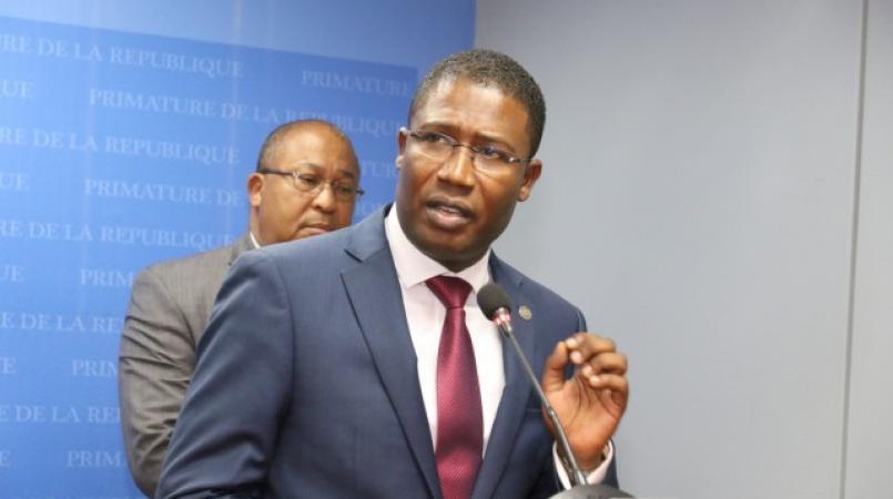 Camille Edouard Junior, ancien ministre de la Justice, frappé d'interdiction de départ./Photo: Loop Haiti