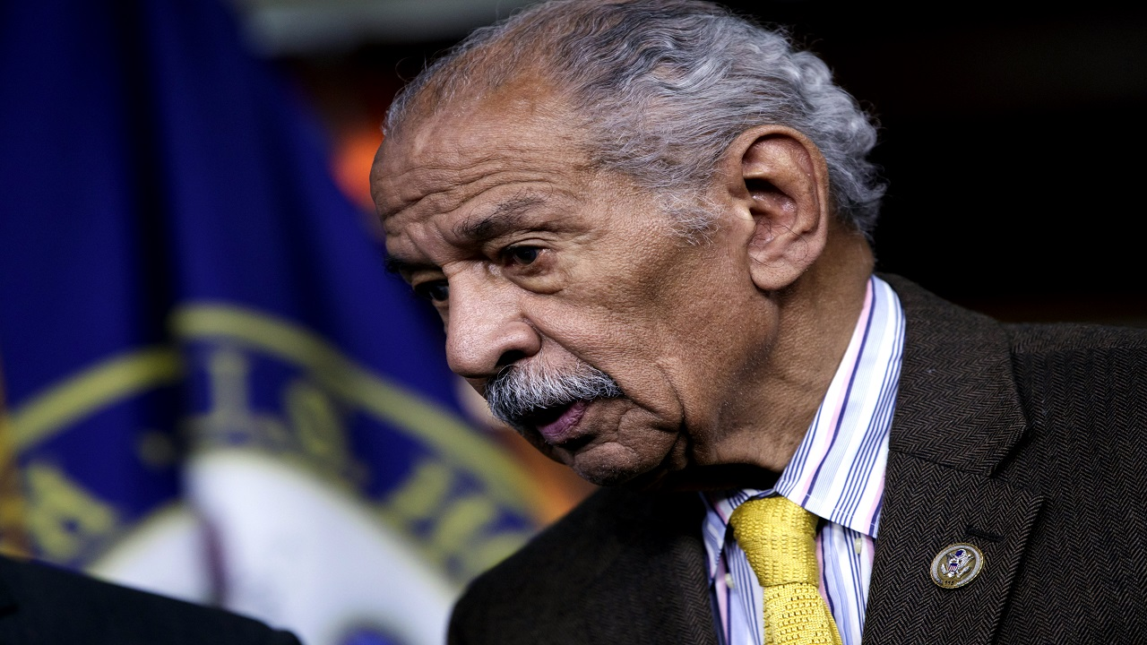 In this file photo from Tuesday, Feb. 14, 2017, Rep. John Conyers, D-Mich., attends a news conference on Capitol Hill in Washington.