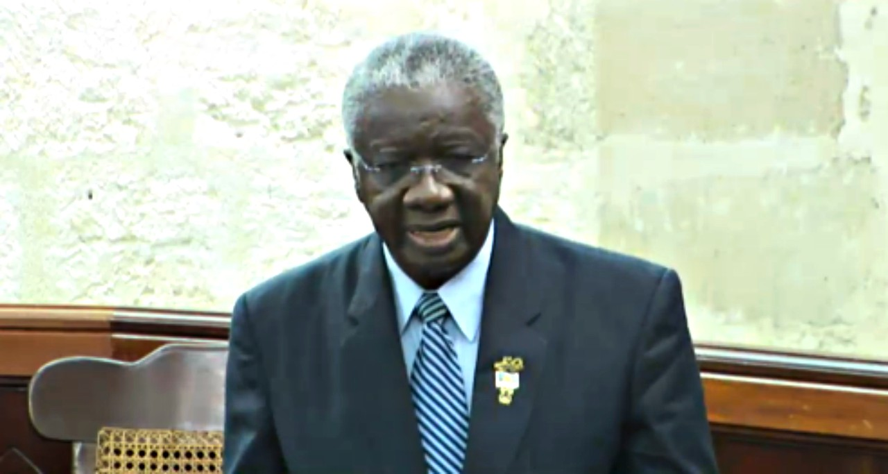 Prime Minister of Barbados, the Rt. Hon. Freundel Stuart in parliament this morning.