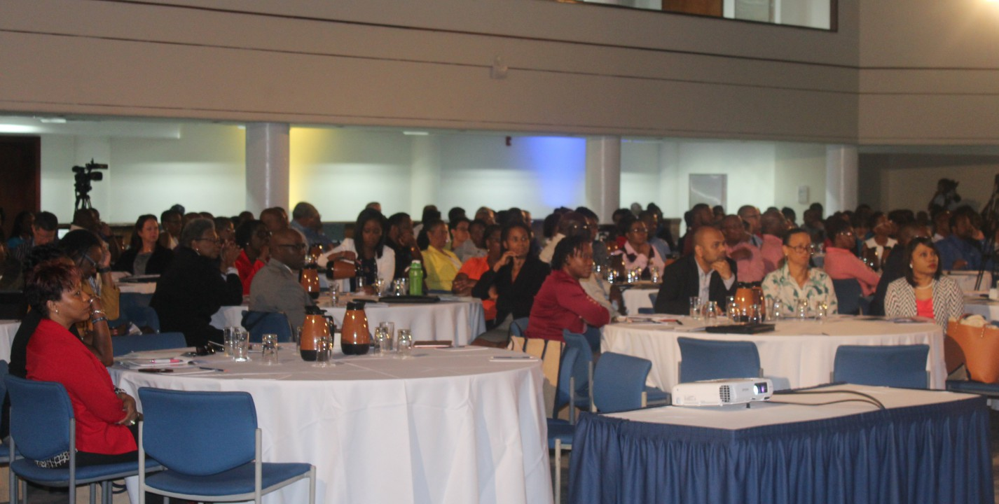 A section of the audience at the Annual General Meeting of the Institute of Chartered Accountants (ICAB).