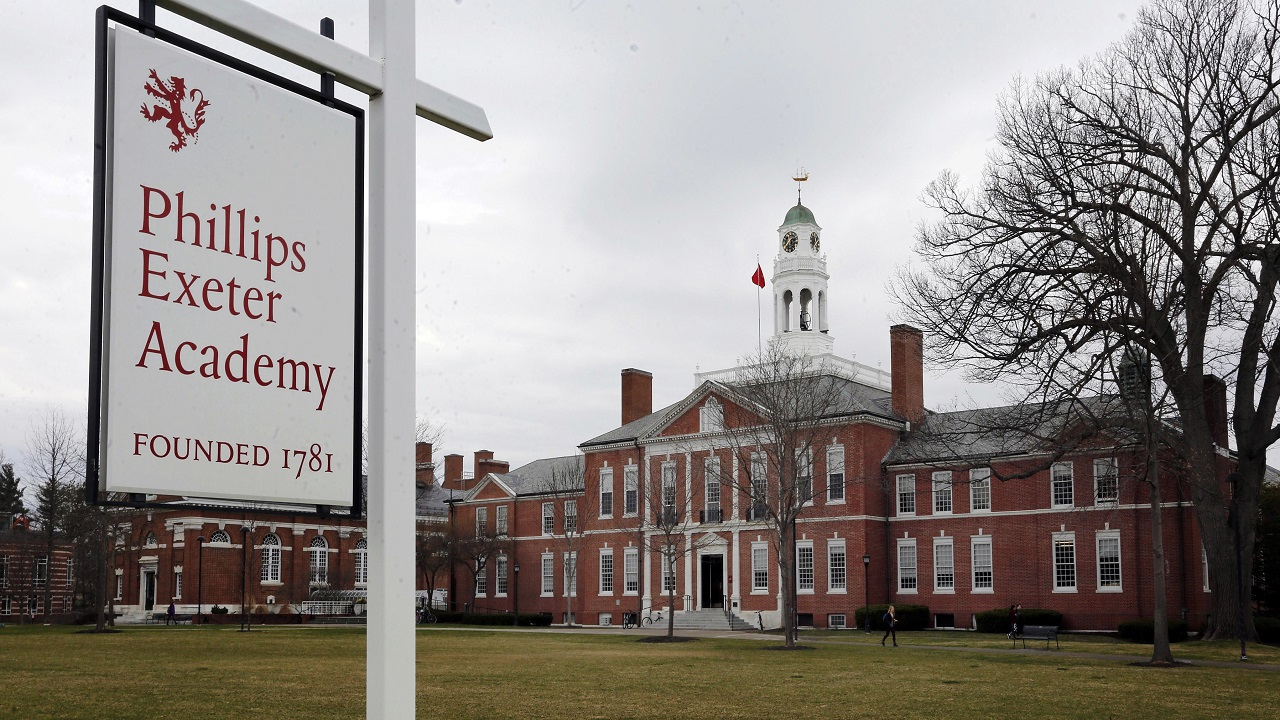 This April 11, 2016 photo shows a portion of the prestigious Phillips Exeter Academy campus in Exeter, N.H.