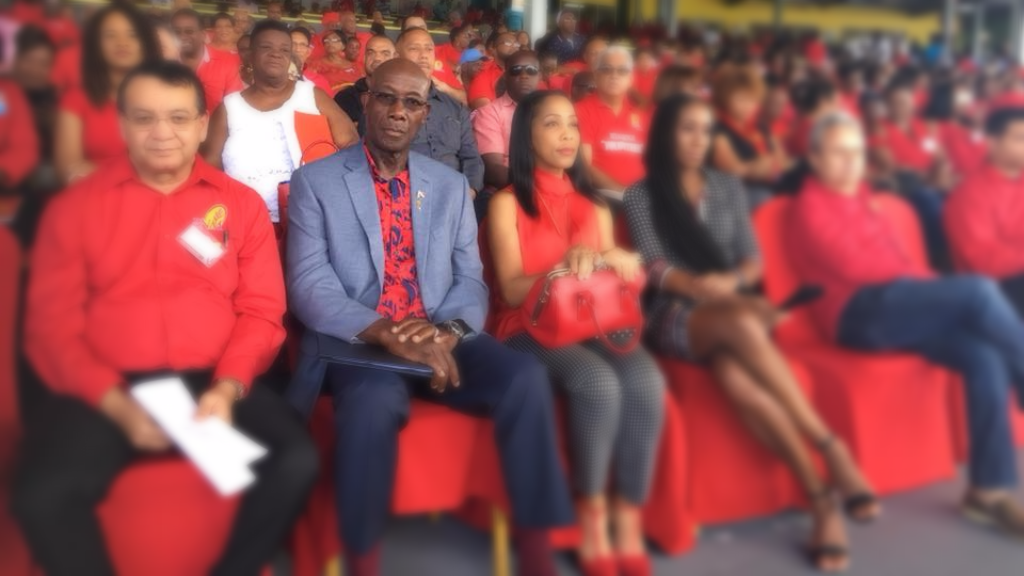 Prime Minister Dr Keith Rowley attends the People's National Movement's 47th National Convention at the Queen's Park Savannah November 12, 2017.