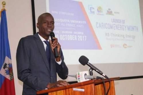 Jovenel Moïse au lancement du mois de l'Energie de la CARICOM 2017