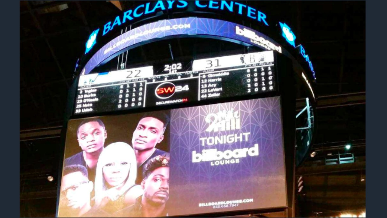 2 Mile Hill up on the Jumbotron in Barclays Center.
