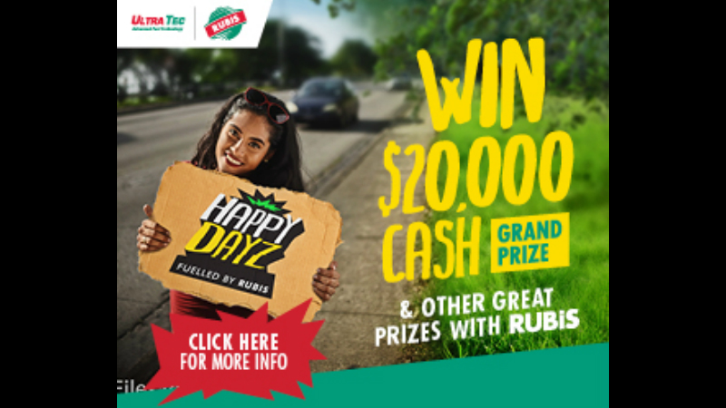 The eight-week contest offers one lucky person the opportunity to win a grand prize of BD$20,000 cash.