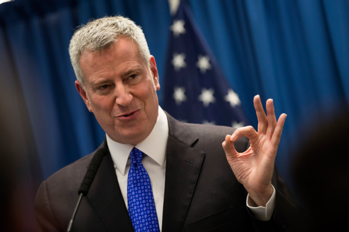 Le maire de New York, Bill de Blasio. Photo: Drew Angerer/Getty Images