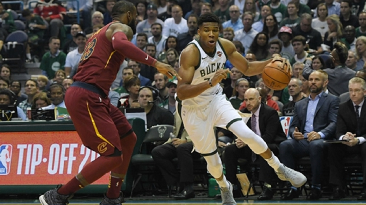 LeBron James and Giannis Antetokounmpo.