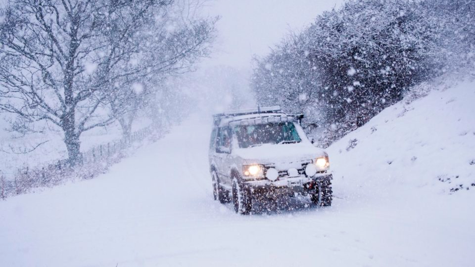 Heavy snow will bring travel disruption across parts of the United Kingdom  tomorrow