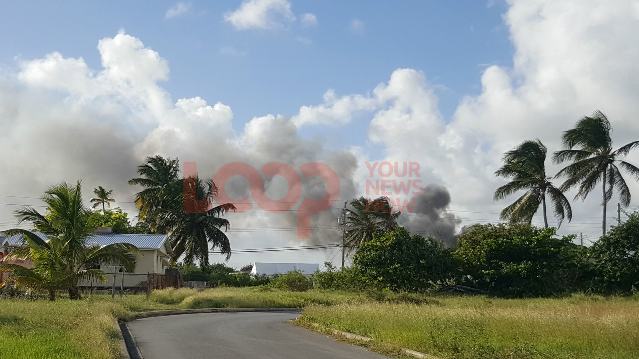 Fire in Cave Land, St. Philip.