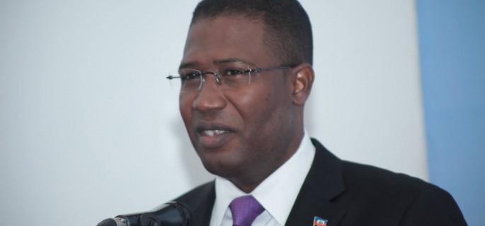 L'ancien ministre de la Justice sous la présidence provisoire de Jocelerme Privert, Camille Edouard Junior./Photo: Haiti Inter Presse