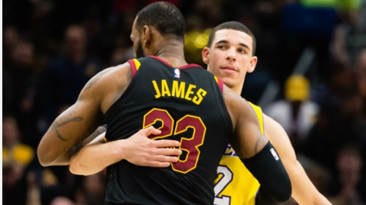 LeBron James and Lonzo Ball.