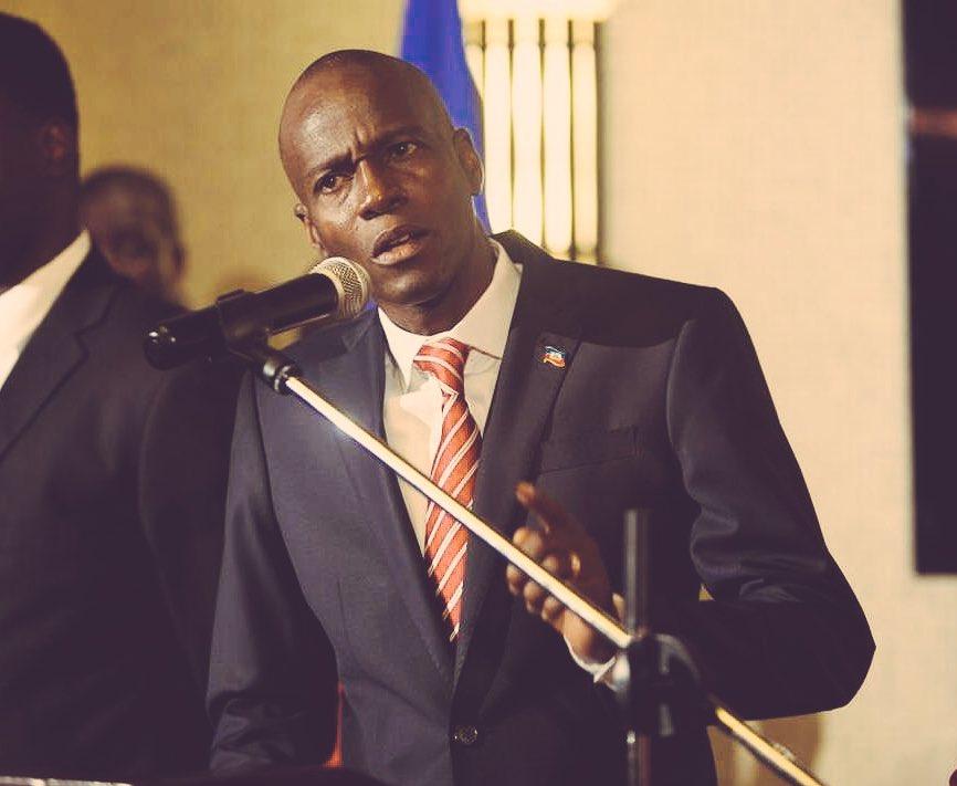 Le président Jovenel Moïse lors de son intervention devant la communauté des Haïtiens à Brooklyn. Crédit photo : Twitter Ministère de la Communication.