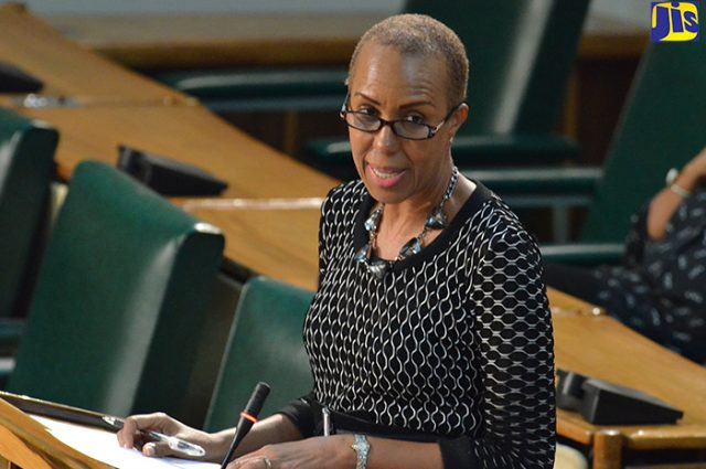 Member of Parliament, Fayval Williams, in the House.