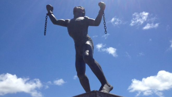 Bussa statue in Barbados