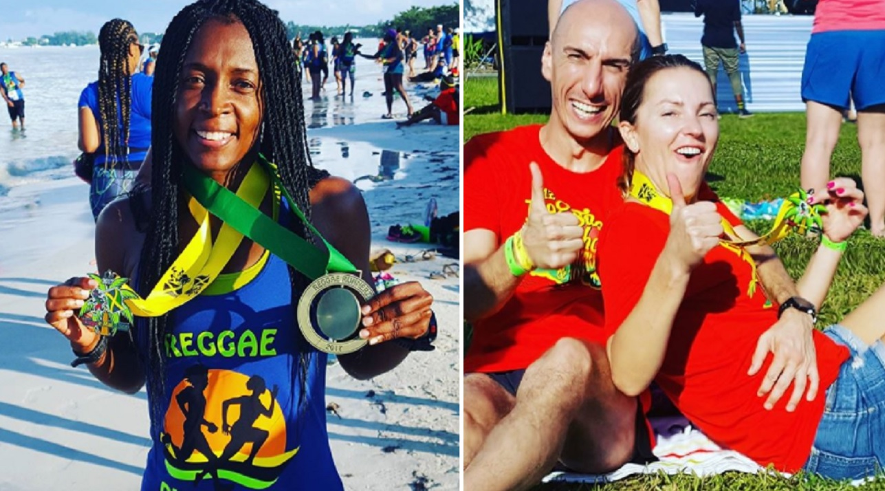 Reggae Marathon 2017 participants enjoy the 'vibe' after participating in the event on Saturday. (PHOTOS: Reggae Marathon)