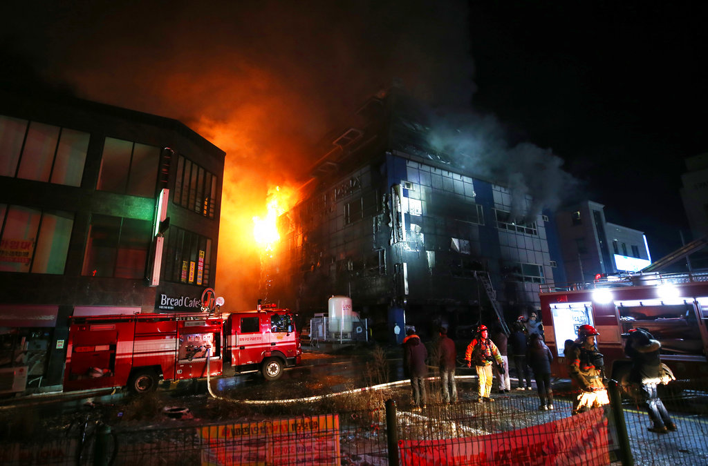 16 confirmed dead in S. Korean building fire