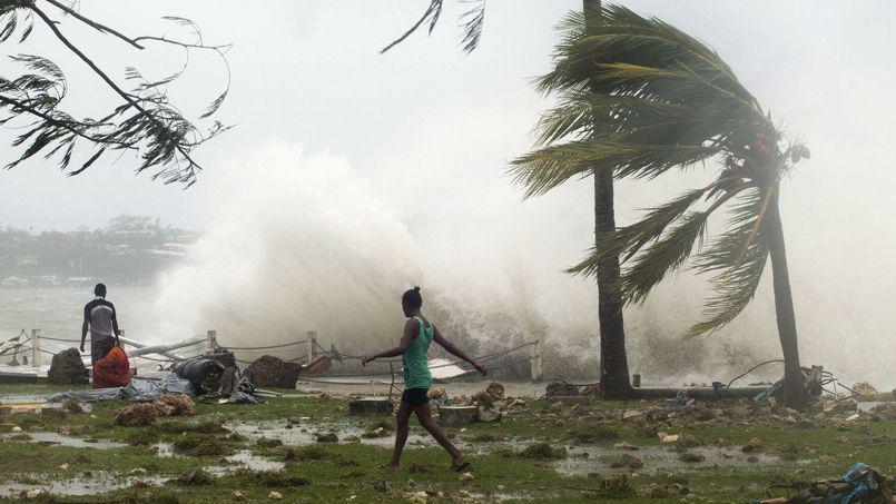 Passage  de Pam, un cyclone de catégorie 5 a Vanuatu en mars 2015/ Crédit photo: Lefigaro.fr