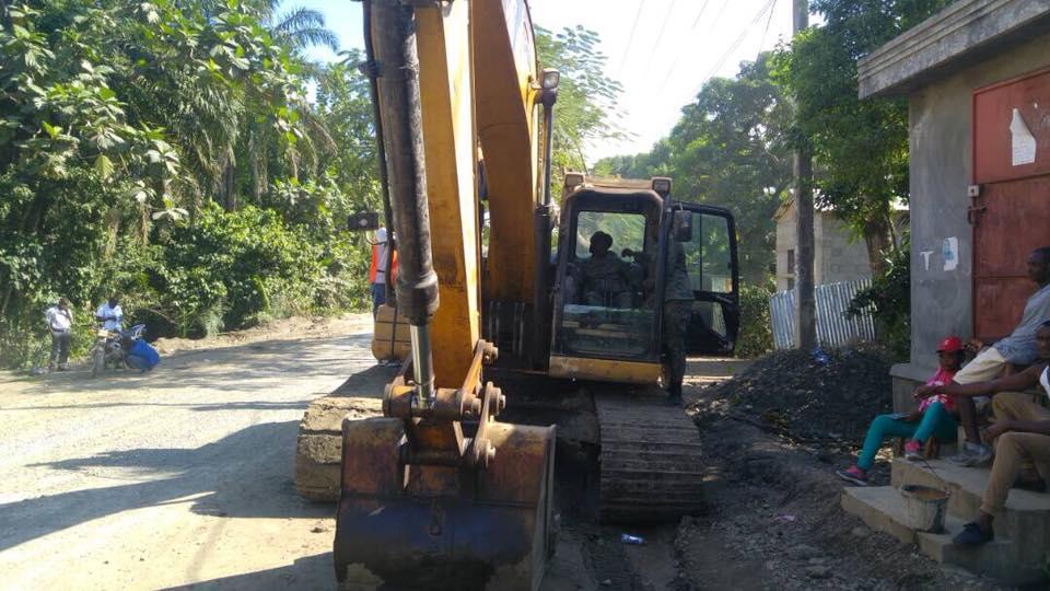 Des militaires à pied d'œuvre. Photo: Ministère de la Défense - Haïti/ Facebook
