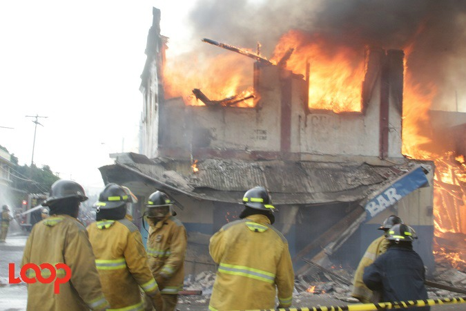 File photo of a fire in spate.
