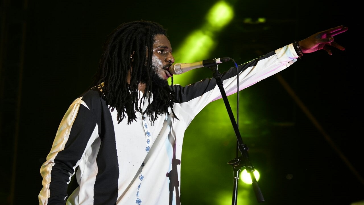 Chronixx performs at Mass Camp in Kingston on Friday night. (PHOTOS: Marlon Reid)
