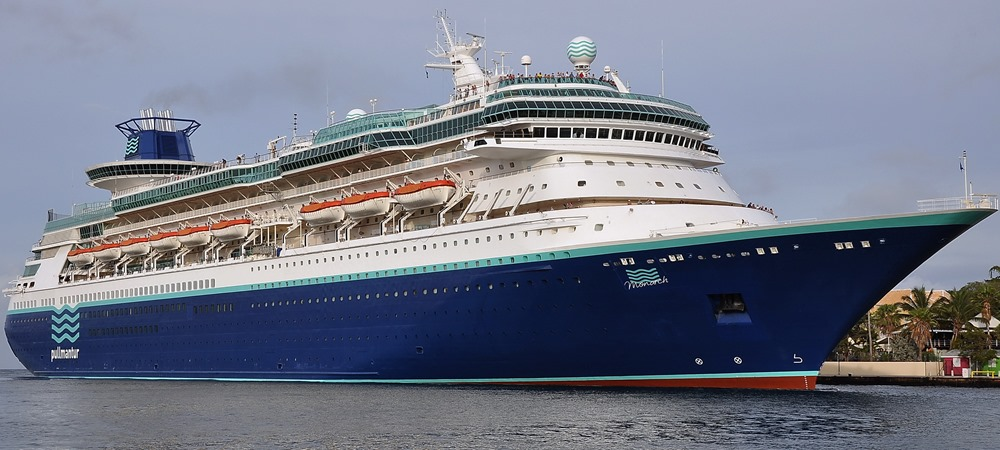 The MS Monarch cruise ship... set to dock in Kingston on Monday morning.