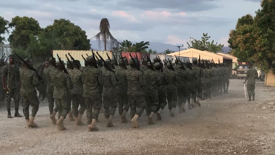 Des militaires dans l'exercice de leur fonction. Photo: Ministère de la Défense - Haïti/ Facebook