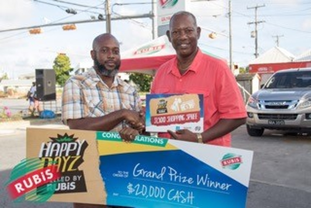 Two happy winners  Barry-Lee Crawford (left) and Anthony Forde (right).