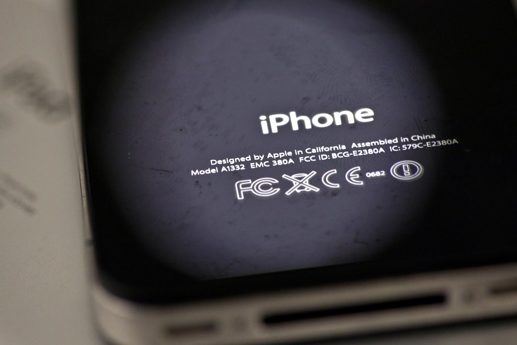 In this Thursday, Dec. 6, 2012, photo, the back of an iPhone 4 in New York. Apple is apologizing for secretly slowing down older iPhones, which it says was necessary to avoid unexpected shutdowns related to battery fatigue. The company issued the statement on its website Thursday, Dec. 28, 2017. (AP Photo/Karly Domb Sadof, File)