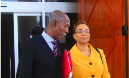 Dr. Maria Agard and one of her representatives Hal Gollop Q.C.