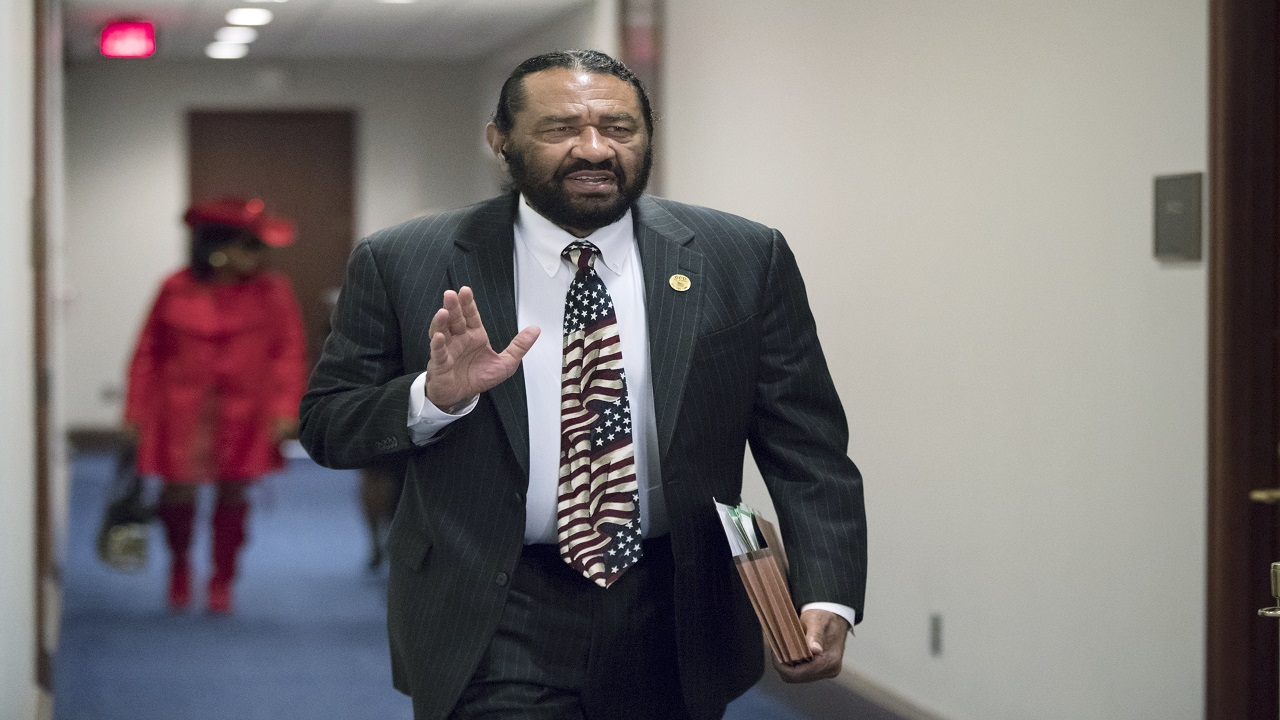 In this photo from Wednesday, Nov. 29, 2017, Rep. Al Green, D-Texas, arrives for a Democratic Caucus meeting on Capitol Hill in Washington.