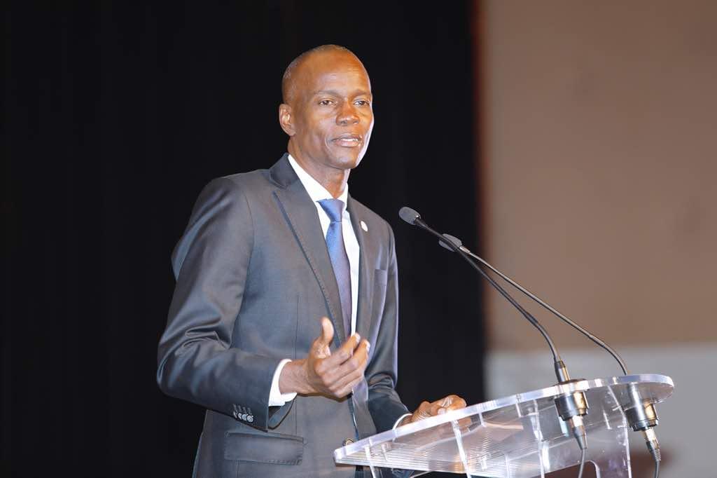 Le président Jovenel Moise lors de sa rencontre avec la communauté haïtienne en France. photo: Twitter/Président Jovenel Moise.