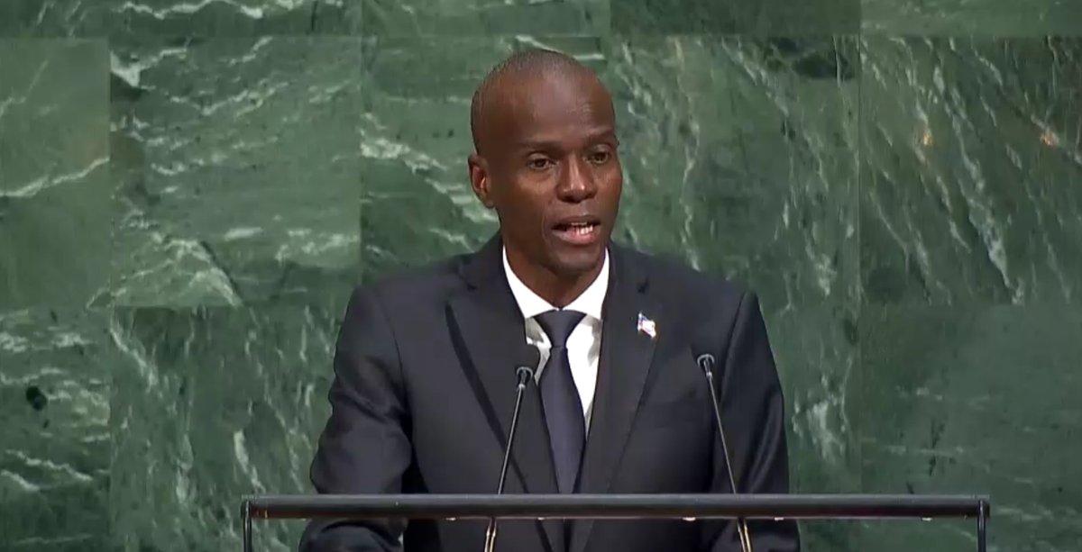 Jovenel Moise récemment à la tribune de l'ONU